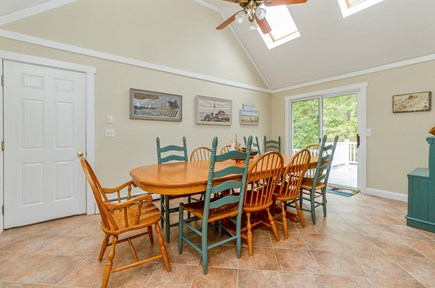 Brewster Cape Cod vacation rental - Dining Area With Deck Access