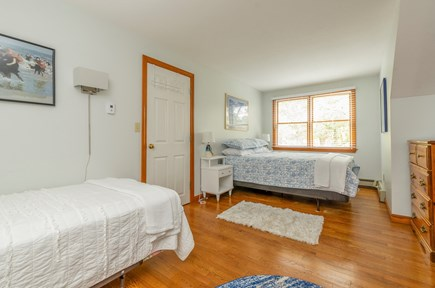 Brewster Cape Cod vacation rental - Bedroom #4 on 2nd Floor with Queen and 2 Twins