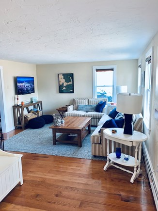 Chatham Cape Cod vacation rental - Family room off the kitchen with television.