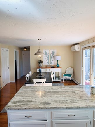 Chatham Cape Cod vacation rental - Dining table in kitchen for 8 people.