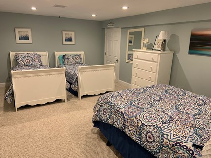 Falmouth Cape Cod vacation rental - Basement room with 2 twin and queen beds