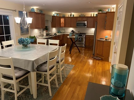 Falmouth Cape Cod vacation rental - Capturing the whole kitchen for a large family to gather.
