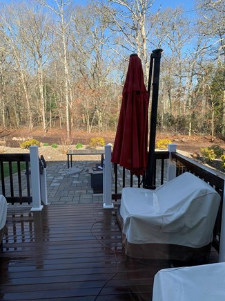 Falmouth Cape Cod vacation rental - Bright and sunny deck and patio with hot tub just waiting