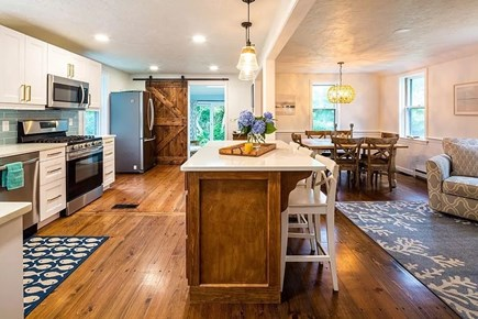 Brewster  Cape Cod vacation rental - Open concept kitchen, dining, and sitting area. Renovated in 2020