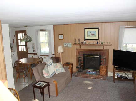 Dennis Port Cape Cod vacation rental - Living room with fireplace