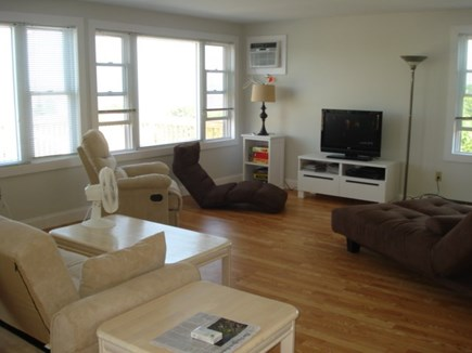 Eastham, Private Beach Access - 1129 Cape Cod vacation rental - Living room with flat screen TV