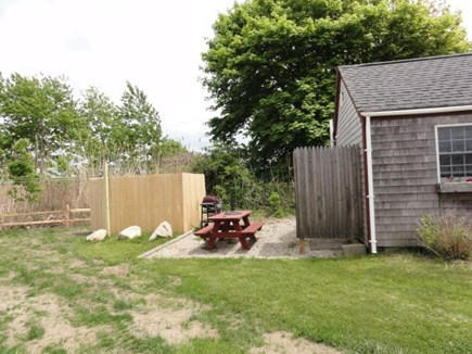 Wellfleet Cape Cod vacation rental - Outdoor area with grill, picnic table and outdoor shower