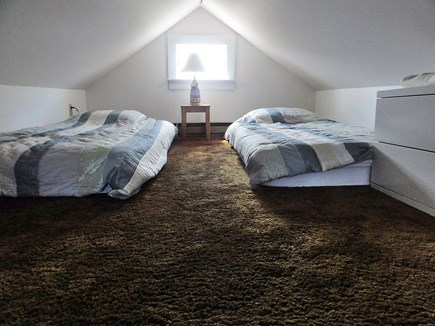 Wellfleet Cape Cod vacation rental - Loft sleeping area with 2 twin beds (sheets not provided)