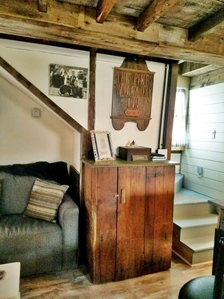 Plymouth, White Horse Beach MA vacation rental - Entry from Porch and Stairs to 2nd Floor Bedrooms