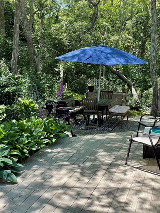 Truro Cape Cod vacation rental - Private Patio & Grill Area With Outdoor Shower