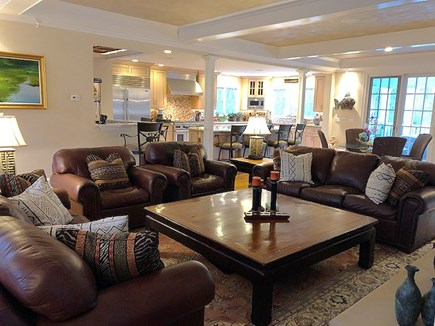 Chatham Cape Cod vacation rental - Living Area with TV Open to Kitchen