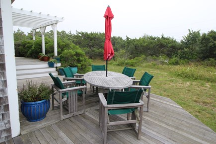 Truro Cape Cod vacation rental - Outside dining