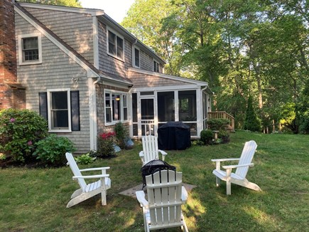 Falmouth Cape Cod vacation rental - Backyard with plenty of room for games, grilling and relaxing