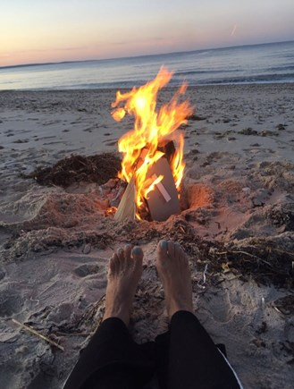 East Sandwich Cape Cod vacation rental - Fires can be built closer to the water at the high tide mark.