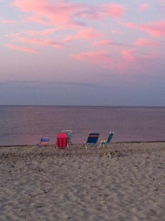 East Sandwich Cape Cod vacation rental - Leave your chairs on the beach...you are right there!