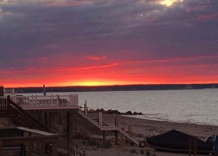 East Sandwich Cape Cod vacation rental - Gorgeous sunsets taken from our private beachfront.