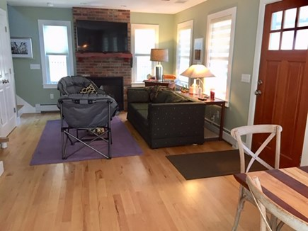 Provincetown Cape Cod vacation rental - Open Dining and Living area with maple floors
