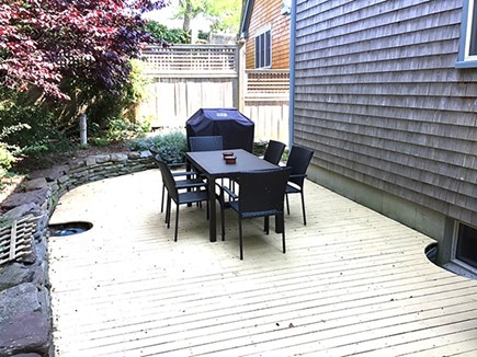 Provincetown Cape Cod vacation rental - Private rear deck with grill