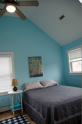 Provincetown Cape Cod vacation rental - Bedroom 2 also has a queen bed and paddle fan