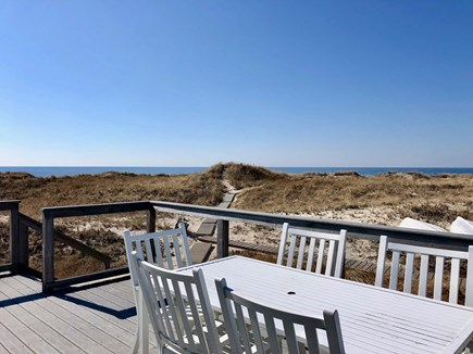 Truro Cape Cod vacation rental - Beautiful water views from the deck, beach path steps away