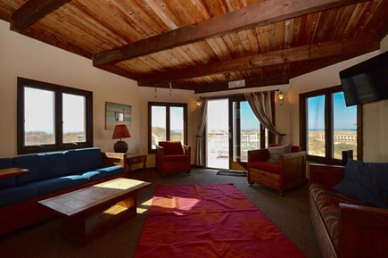 Truro Cape Cod vacation rental - Living area has gorgeous water views, cable TV