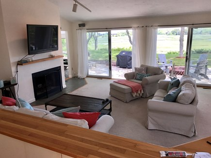 Eastham Cape Cod vacation rental - Vaulted ceilings in the main living area plus a pretty sweet view