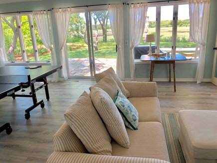 Eastham Cape Cod vacation rental - The game room opens to the new patio
