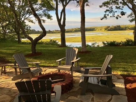 Eastham Cape Cod vacation rental - Fire pit on the new patio.