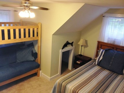 North Eastham Cape Cod vacation rental - BR 3: queen sized memory foam plus full/twin bunk bed
