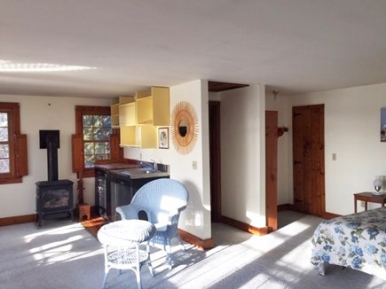 Eastham, Aerie, a 2nd story suite Cape Cod vacation rental - Kitchenette & gas stove