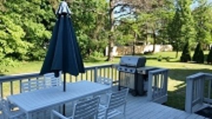 Dennis Cape Cod vacation rental - Sunny deck with grill and dining