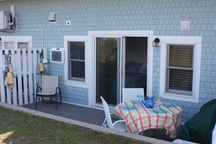 Chatham; Oceanfront Condos; Ch Cape Cod vacation rental - Step out of bed, onto the patio & enjoy breakfast al fresco!