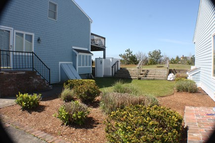 Chatham; Oceanfront Condos; Ch Cape Cod vacation rental - Outdoor shower and some common lawn space.