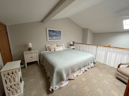 Chatham; Oceanfront Condos Cape Cod vacation rental - Spacious loft w king bed, A/C, skylight, full bath & desk.