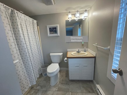 Chatham; Oceanfront Condos Cape Cod vacation rental - First floor bathroom with tub/shower combination.