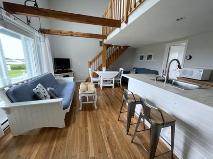 Chatham; Oceanfront Condos Cape Cod vacation rental - Living area w plenty of comfortable seating.
