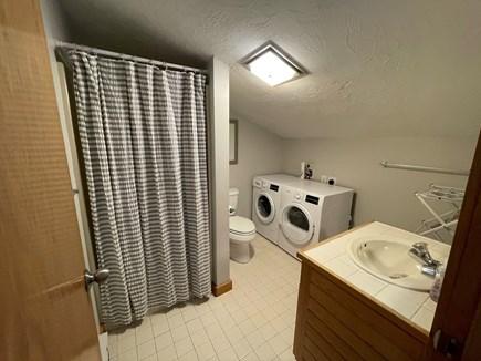 Chatham; Oceanfront Condos Cape Cod vacation rental - Loft bathroom w shower, washer & dryer.