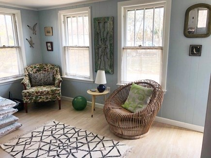 Wellfleet Cape Cod vacation rental - Front reading/coffee sitting area