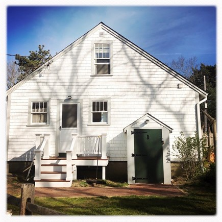 Wellfleet Cape Cod vacation rental - Back of house with small deck