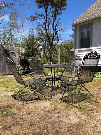 Wellfleet Cape Cod vacation rental - Side yard with outdoor dining table