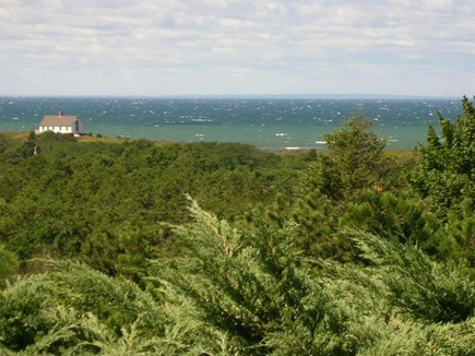 South Truro Cape Cod vacation rental - View of hogsbacks and Cape Cod Bay from the house