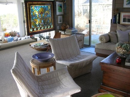 South Truro Cape Cod vacation rental - Upper Living Room