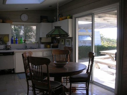 South Truro Cape Cod vacation rental - Kitchen and kitchen deck