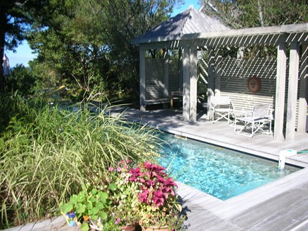 South Truro Cape Cod vacation rental - 30 foot heated lap pool and decks off bedrooms