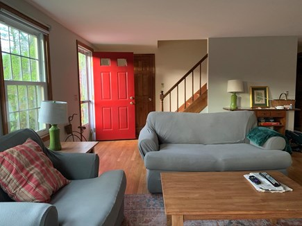 Eastham Cape Cod vacation rental - Bright and spacious living room with front entrance.