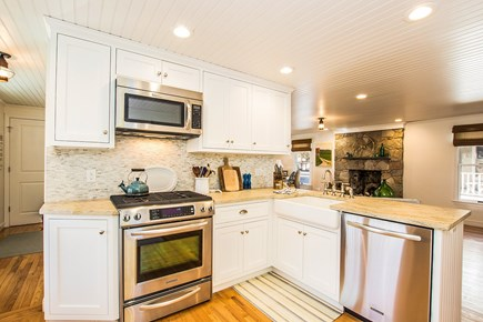 Falmouth Cape Cod vacation rental - Kitchen open to living room