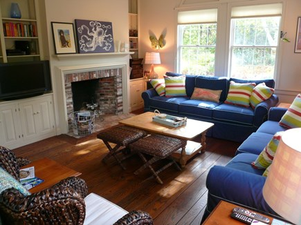 Truro Cape Cod vacation rental - Living Room in Main House