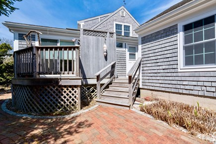 Orleans Cape Cod vacation rental - Back patio and private master deck, fully enclosed outdoor shower