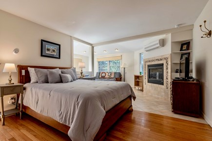 Orleans Cape Cod vacation rental - Master suite w/ queen bed, futon, full bath, TV, AC