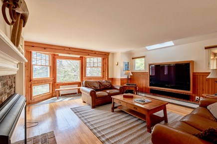Orleans Cape Cod vacation rental - Comfy seating and 65 inch smart TV with full cable package